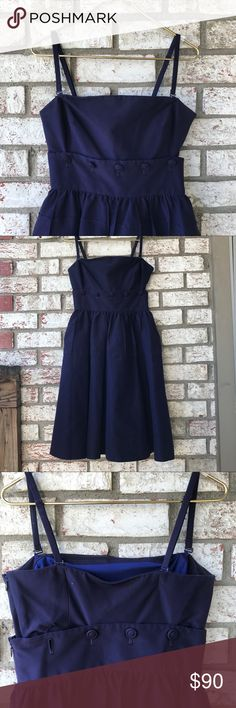Maeve Maeve Anthropologie Convertible Dress Sz 4 ::MISSING ONE BUTTON:: see pics Anthropologie Dresses Midi