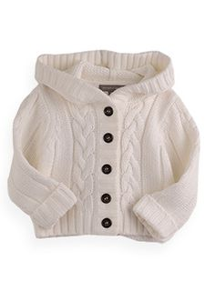 hooded cable front cardigan