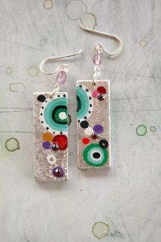 Moira hand painted earrings by vickygonart on Etsy, $20.00
