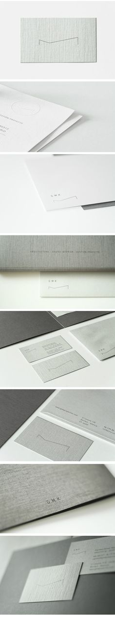 Brand Identity for GMK, architecture and interior design studio, by Alex Monzó via Behance