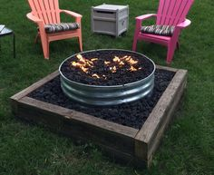 Galvanized Fire Pit Ring for Backyard