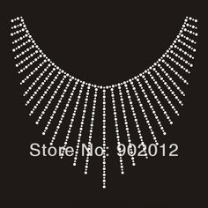 Cheap rhineston, Buy Quality rhinestone iron directly from China rhinestone stud Suppliers: Neckline Rhinestone Hot Fix Iron On Appliques This design measures (W Bead Embroidery Patterns, Hand Embroidery Flowers, Beaded Embroidery, Embroidery Designs, Rhinestone Art, Silk Saree Blouse Designs, Neckline Designs, Costume Shop, Iron On Applique