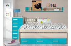 Dormitorio juvenil con cama compacta merkamueble - Cama nido merkamueble ...
