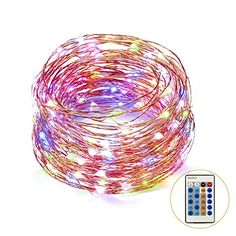 Weico Dimmable Color LED String Lights Copper Wire Rope Lights for Gardens Homes Patio Wedding Dancing Party200LEDs 66ft >>> See this great product.