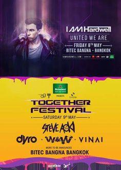 Hardwell to play Together Festival Bangkok in May! #Bangkok #Hardwell #Thailand