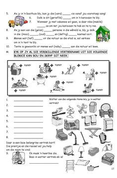 #ClippedOnIssuu from SkerpmakerB3 First Grade Math Worksheets, School Worksheets, School Resources, Teaching Skills, Teaching Aids, Classroom Activities, Learning Activities, Afrikaans Language, School Posters