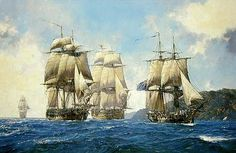 From left to right - HMS Leopard, HMS Surprise, HMS Bellona and HMS Sophie.