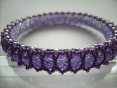 Pearl works of Marion/Luca2: Honeycomb Bangle by Cynthia Rutledge