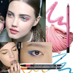 #AllureKorea features #ClioProfessional #Gelpresso Waterproof Pencil Gel Liner in #10 for a Candy Colored Eyeline #kbeauty #press #makeup #howto #trendy #candyeyes #eyeliner