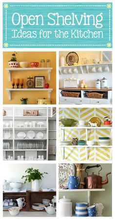 #30 DIY:: Open Shelving Projects for the Kitchen