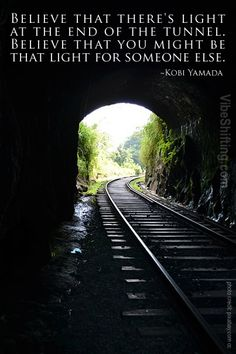 light at the end of the tunnel quotes google search
