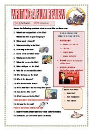 14 Awesome movie review template worksheet images | grade 1 ...