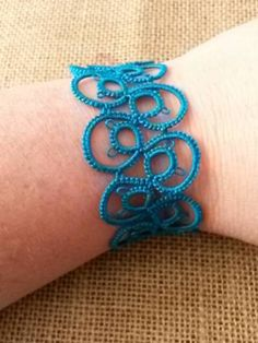 Items similar to Needle Tatted Lace Bracelet on Etsy Tatting Bracelet, Lace Bracelet, Tatting Patterns, Crochet Patterns, Needle Tatting, Thread Art, A Silent Voice, Lace Making, Micro Macrame