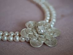 Pearl5 Necklace / Dont be surprised if they think by gejewellery