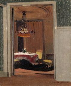Félix Edouard Vallotton (1865 - 1902) - Dining Room, evening (Salle à manger, soir), 1904 Oil on canvas