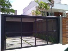 Terrace House Exterior, Driveway Entrance, Electric Gates, Expanded Metal, Arched Doors, Minimalist Architecture, Fence Design, Modern Minimalist, Interior And Exterior