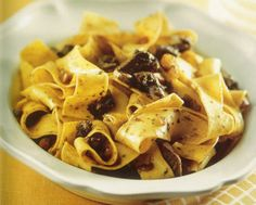 Pappardelle with Hare Sauce.  A Tuscan pasta sauce with hare.