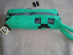 Creeper Pencil Case for Gamers  Soft and by TheMagickThread, £9.99