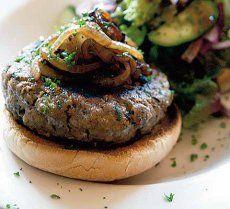 Pork, apple & sage burger with caramelised onions recipe - Recipes - BBC Good Food