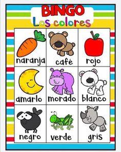 Juego bingo de los colores para aprender los colores Color Activities, Toddler Activities, Games For Kids, Diy For Kids, Kid Games, K 1, Teaching English, Little Sisters, Back To School
