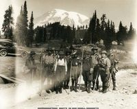 Washington State Historical Society - camping area of Mount Rainier National Park