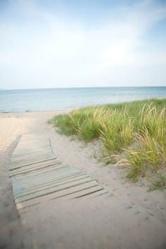 lake michigan.  I love walking on these wood boards in the summer, leading to the beach... I will miss going this year!!!
