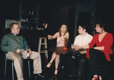 The Phoenix, rehearsal, with Eric Gelman, Margarita Bejerano, Josh Billig, Monica Jay.  The Sargent Theatre, NYC. Directed by Andre Kirchner Dion.