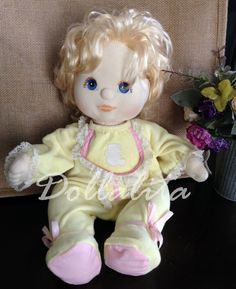 "Mattel 1985 My Child Doll 14"" Blonde hair Blue Eyes #Dolls"
