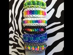 CANDY TWIST Rainbow Loom Bracelet. Designed and loomed by Sea wolfe. Click photo for YouTube tutorial.