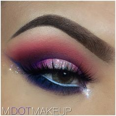 blended eyeshadow with sparkle