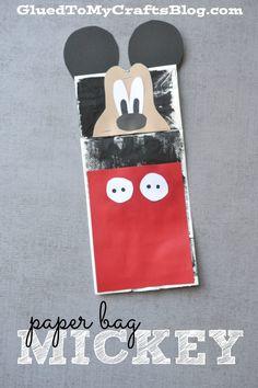 Paper Bag Mickey - Kid Craft