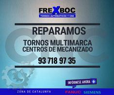 Reparamos tornos cnc y centros de mecanizados por toda Catalunya, solicite nuestros servicios al 937189735 Cnc, Tech Support