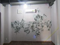 Vẽ tranh 3d trên tường cafe,karaoke, bar, nhà hàng, trường mầm non, tiểu học, tranh tường trang trí nhà riêng, văn phòng, tranh tường bền đẹp, không độc hại