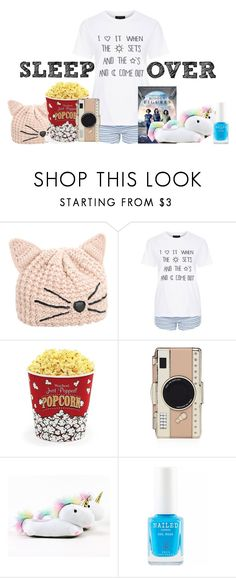 """""""Simple Summer Sleepover"""" by fionaandroid ❤ liked on Polyvore featuring Karl Lagerfeld, Topshop, West Bend, Kate Spade and Smoko"""