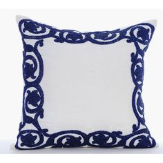 Luxury White Pillows Cover 16x16 Silk Pillows by TheHomeCentric