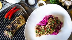 Coriander Lamb with Chilli Sauce and Pickled Cabbage - Family Food Fight backstrap for your dinner tonight Salsa Gravy, Backstrap Recipes, Pickled Cabbage, Lamb Ribs, Dinner Tonight, Coriander, Family Meals, Yummy Food