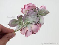 """Броши ручной работы. """"В пастельных тонах"""". Цветочная брошь с розами. Бледно-розовые цветы. Татьяна (biota). Ярмарка Мастеров."""