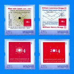 MOLDOVA. Personalized stamps. 2014 - Int. Year of Cristallography, 4v, MNH.