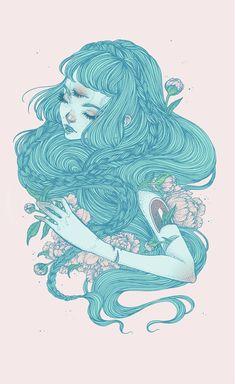 """drfmmsd: """" Artist & Illustrator: Jennalee Auclair """"Hime"""" """""""