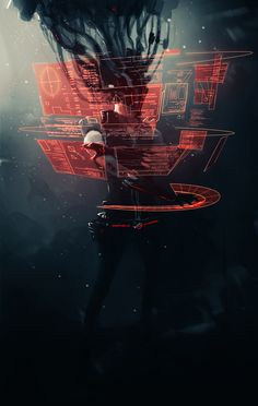 Holographic Display | cyberpunk | cyber world | interactive | _ROG.RTS_ | *longiy | deviantART | workspace | color | ram2013