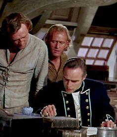 Richard Harris and Marlon Brando ~ Mutiny on the Bounty, 1962