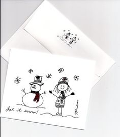 10 Cards with Matching envelopes  Let It by BlissfulJourneycards