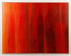 """BUTNIK, """"STONEHENGE II"""", O/C Samuel Butnik, """"Stonehenge II"""", oil on canvas in reds, signed, titled and dated verso, 1966, in strip frame, 38 1/8"""" x 48 1/2"""". (SOLD) http://www.kaminskiauctions.com/servlet/Search.do?auctionId=51&itemId=29838"""