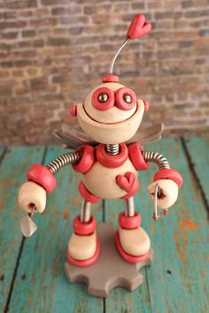 Valentine's Day Robot Cupid Coco by RobotsAreAwesome, $40.00