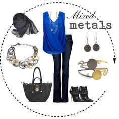 Serendipity Necklace and Bracelet, Elements Cuff, Jolie Earrings, Midnight Convertible Handbag and Sheer Midnight Scarf