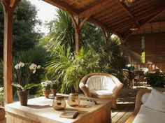 terrasse style caraïbe