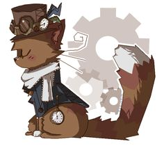 Gears and Clocks aND CAT by rizusaur
