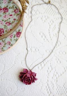 """Edwardian Rose Necklace By Amano Studio 29.99 at shopruche.com. This beautifully carved resin rose is paired with an adjustable antiqued chain. Indie-made by Amano Studio.  18-21.5"""" chain length, Pendant: 1.4"""""""