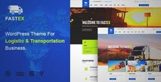 Download and review of Logistics WordPress Theme   FastEx, one of the best Themeforest Corporative themes
