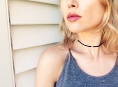 THE BRUMBY black faux suede choker with silver bead by Wild Horse Collective